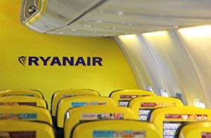 The yellow interior is to be replaced on the Ryanair fleet.