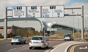 Dublin Airport - roads and signage