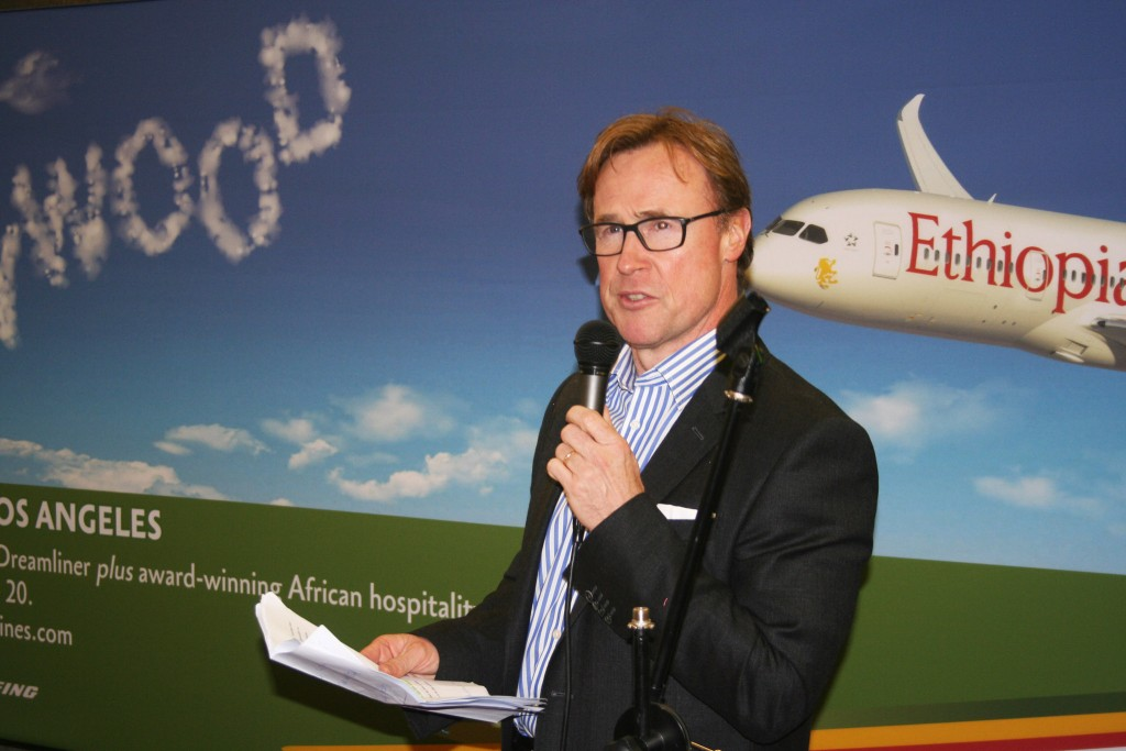 DAA CEO Kevin Toland speaking at the event