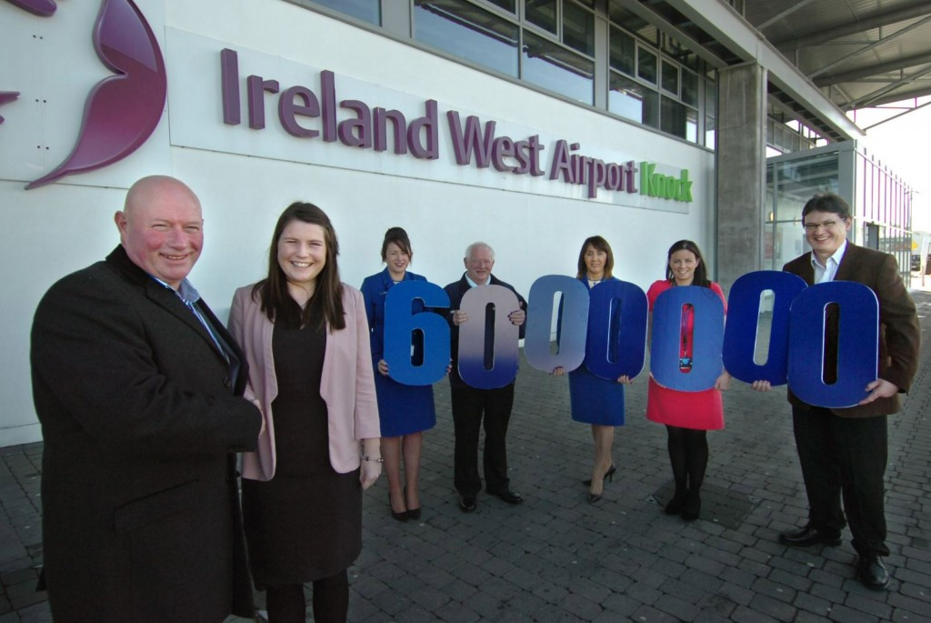 Glen Ford from Ballina, Co.Mayo - Ryanair's 6 millionth passenger at Knock