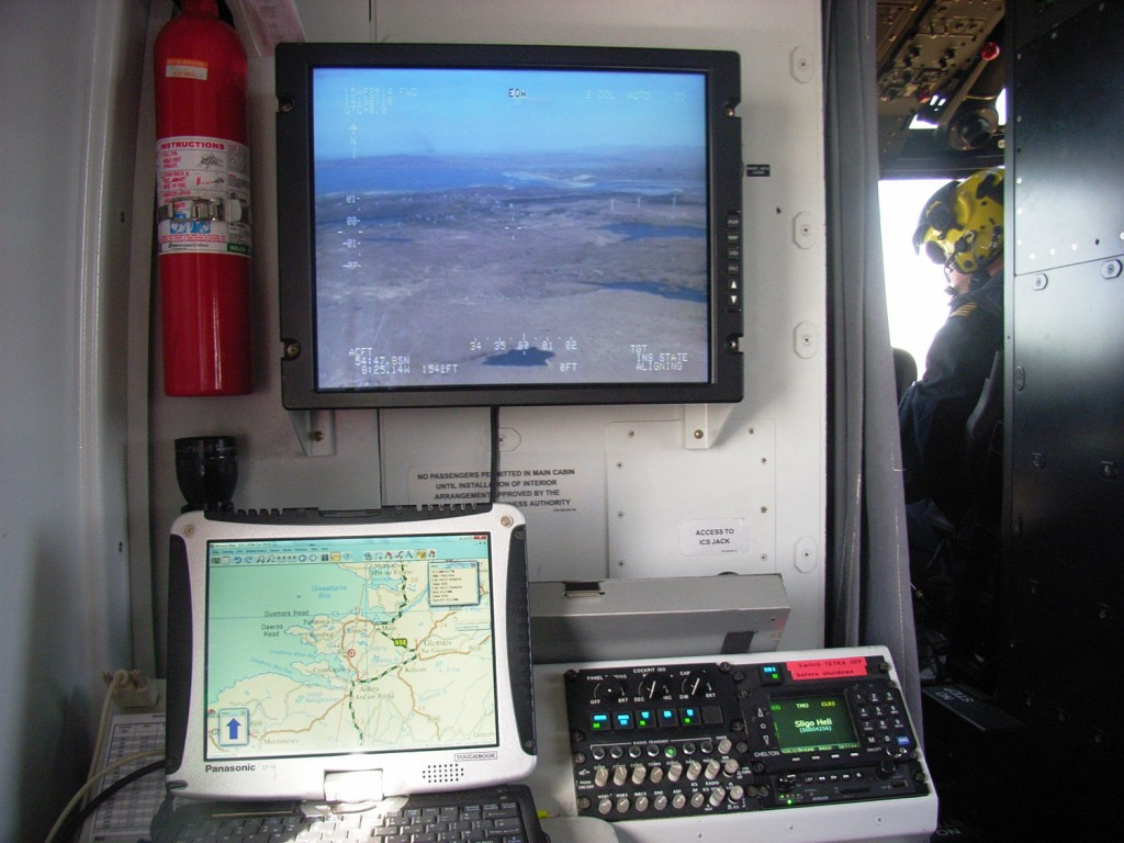 IRCG 2014 S-92 crew station linked map and Westcam screens