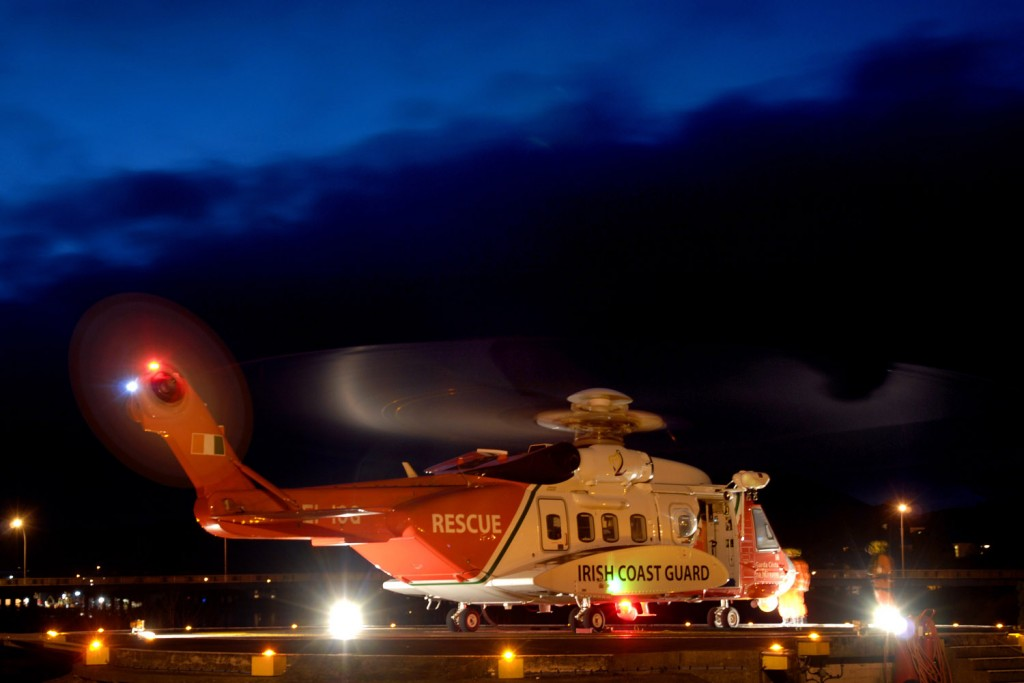 S-92A EI-ICG at nighttime (IRCG)