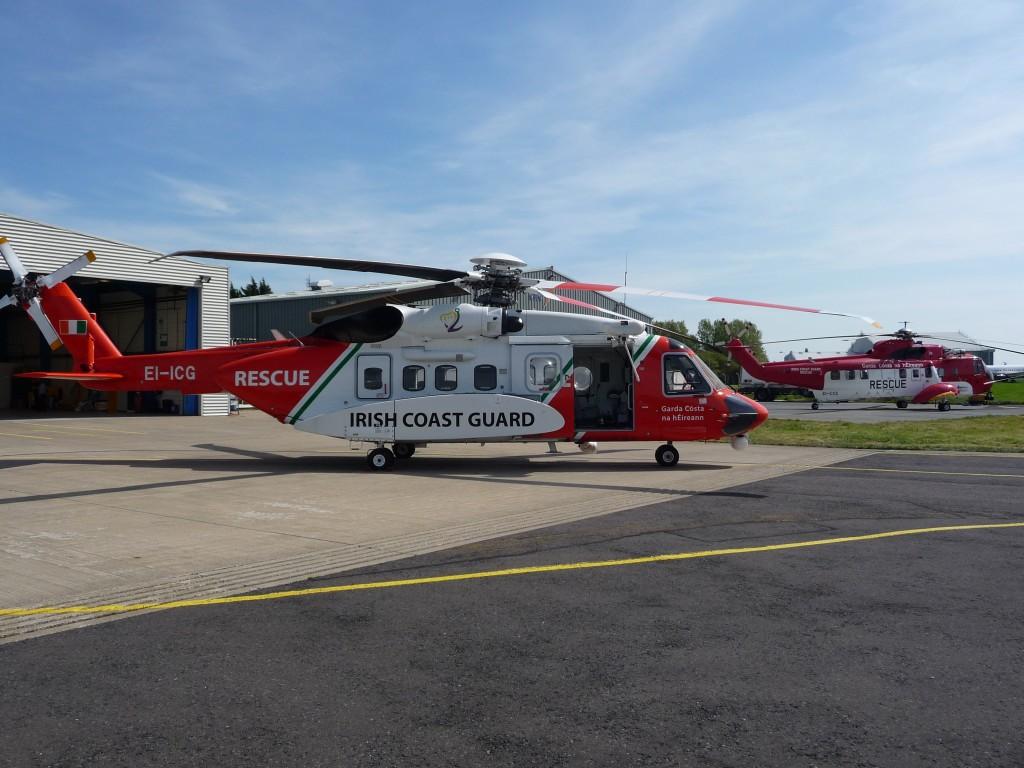 S-92A and S-61N at Sligo (IRCG)