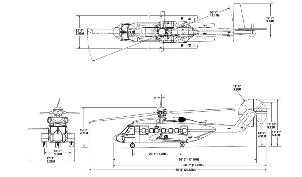 S-92A dimensions (IRCG)