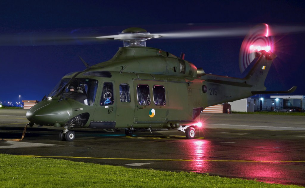 AW-139, 275, on the ramp at Baldonnel