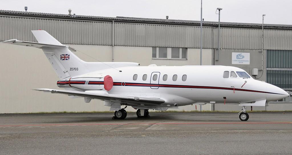 BAe 125, ZD703, RAF in ZRH (JL)