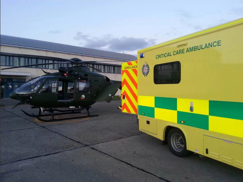 EC135P2 in it's aeromedical role