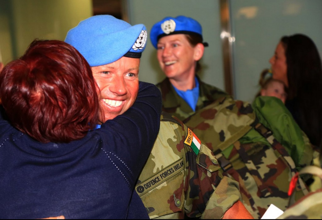 A happy reunion as the 47th Infantry Group returned to Dublin