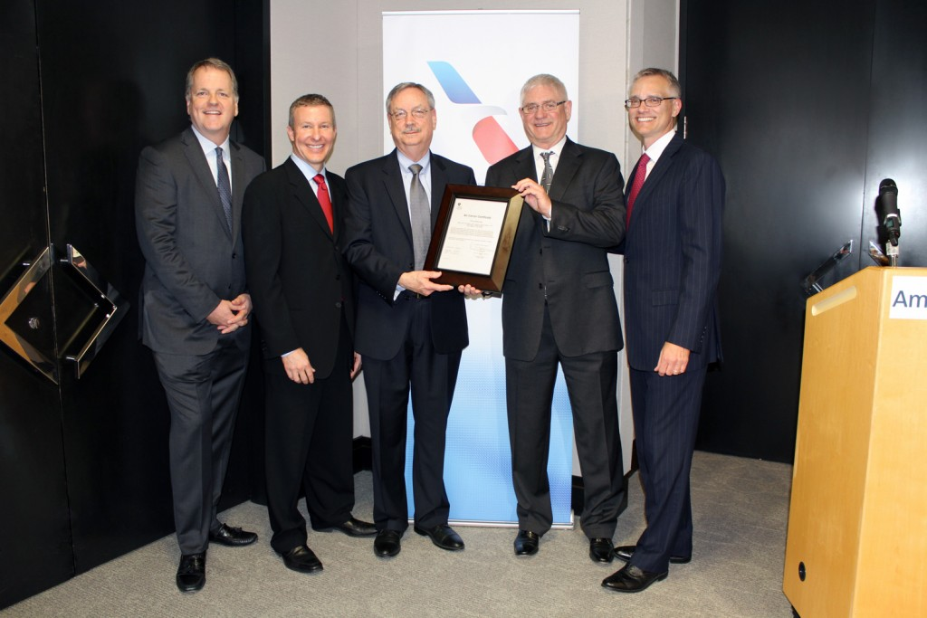 American Airlines receives single operating certificate