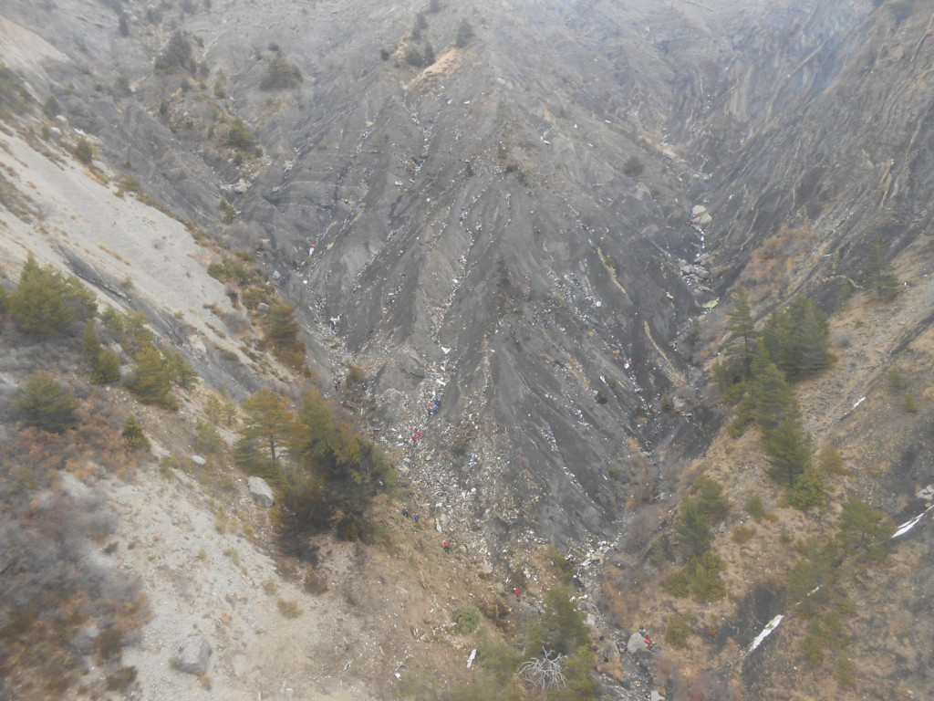 Crash site Germanwings 4U9525 (BEA)