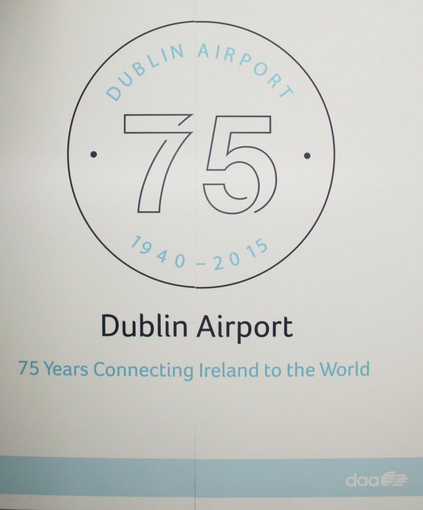 Dublin Airport 75th Anniversary logo (IMG1876A JL)