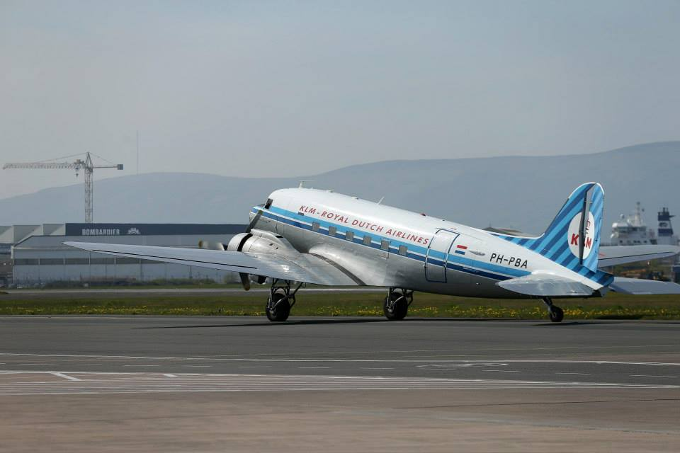 KLM DC-3 PH-PBA taxies out