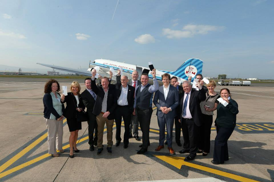KLM's lucky passengers on flight DC-3 at Belfast