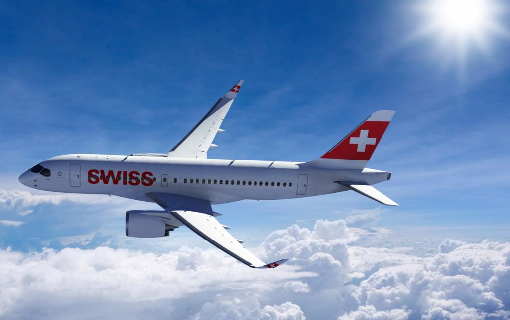 Swiss Bombardier CSeries twinjet