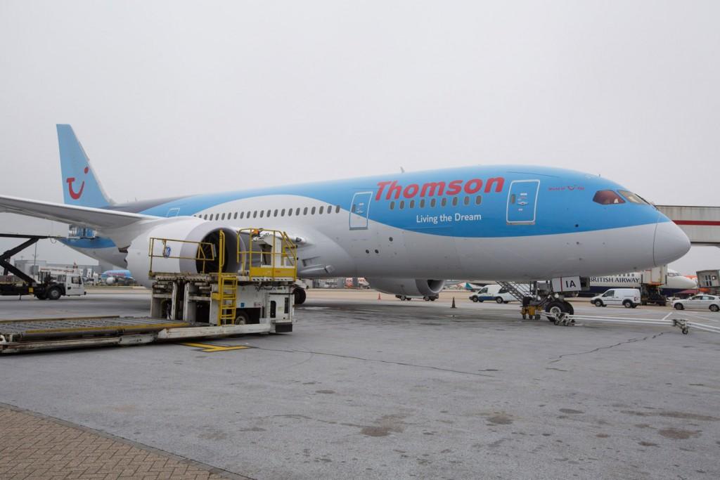 Thomson Airways Boeing 787 on the ramp