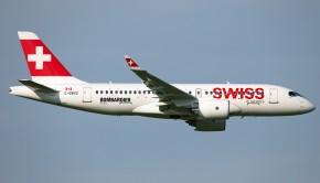 C-series CS100 C-GWXZ flypast (Michael Steffen)