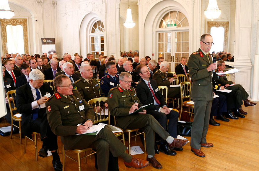 Lt. Gen. Conor O'Boyle Chief of Staff speaking at the symposium on the White Paper on Defence
