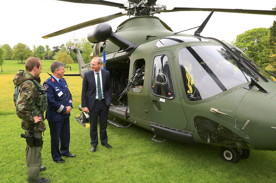 Minister Coveney & Brig Gen Paul Fry at Farmleigh