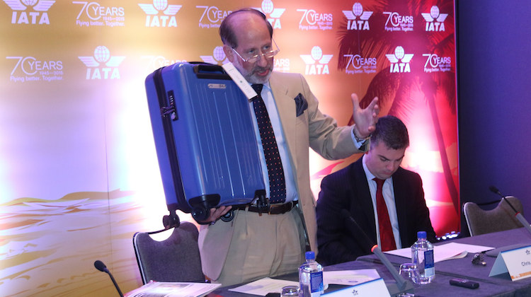 Tom Windmulle with IATA Cabin OK baggage