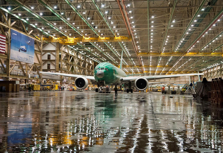 KAL 777-F Factory Rollout in Everett WA