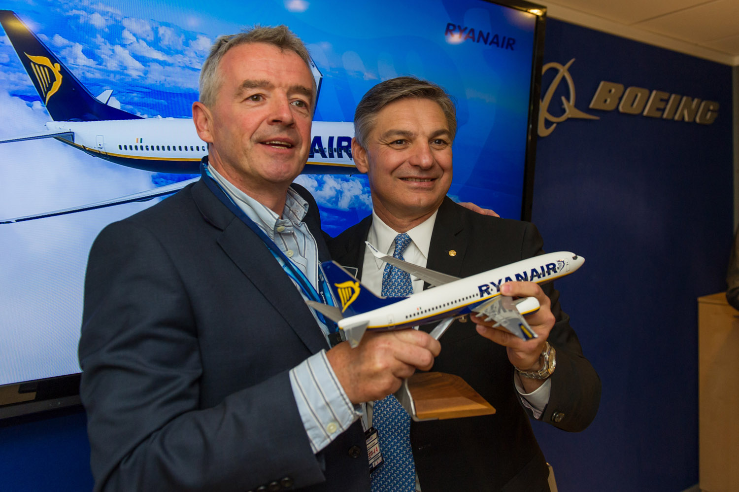Boeing - Michael O'Leary & Ray Conner Boeing Commercial Airplanes president and CEO