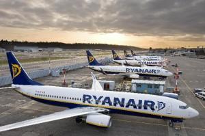 Ryanair-aircraft on ramp