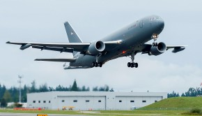 Boeing KC-46A taking off