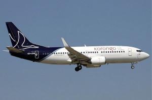 OO-LTW B737 of Korongo Airlines