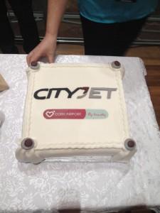 CityJet Cork-London City inaugral cake
