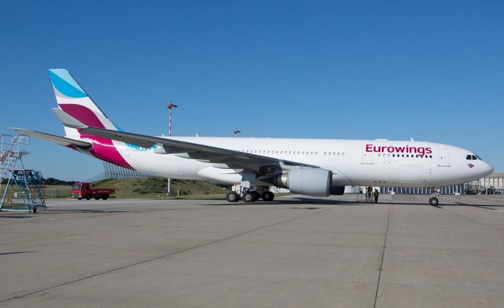 Eurowings A330-300 Ankunft in Hamburg