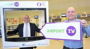 Pictured at the launch of Airport TV were from left to right: Jimmy Norman, Managing Director, Norman Media and Donal Healy, Marketing Manager, Ireland West Airport Knock