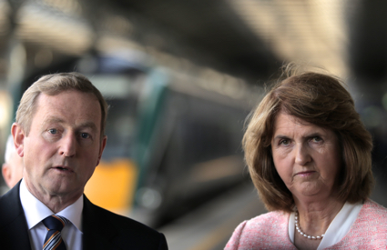 Taoiseach and Tánaiste at Heuston Station to launche 'Building on Recovery'