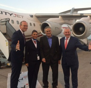 VIPS at the launch of CityJet's inaugural Cork - London City service