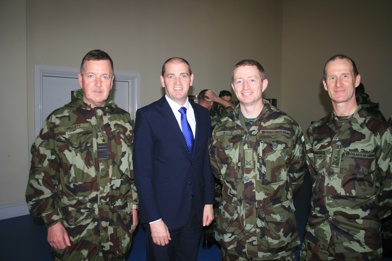 51st Infantry Group CO with Minister JL