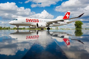 Bombardier C Series CS100 C-GWXZ (Swiss)