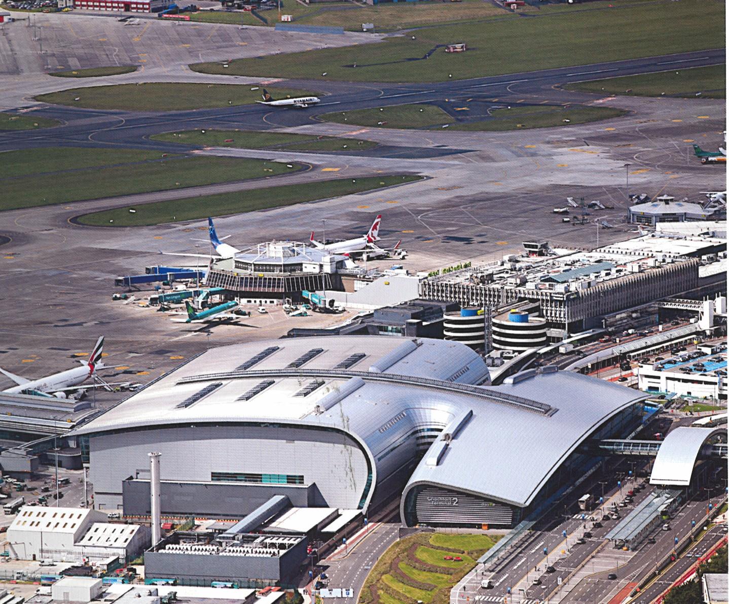 Dublin Airport T2 aeriel