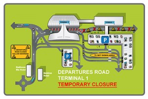 Dublin Airport -Terminal 1 Road closure