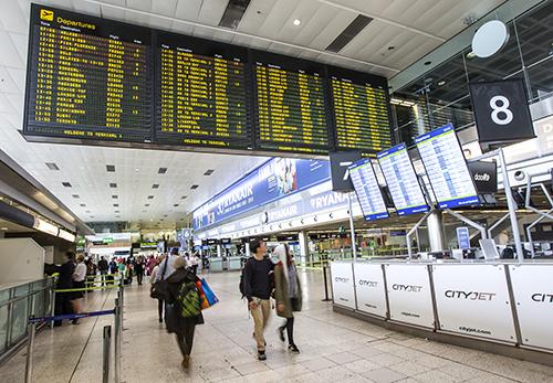 Dublin Airport - flight info board