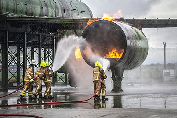 Dublin Airport's new firefighters training