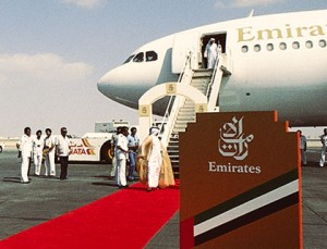 Emirates Inaugural flight