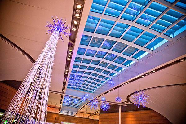 Dublin Airport Christmas Lights at  T2