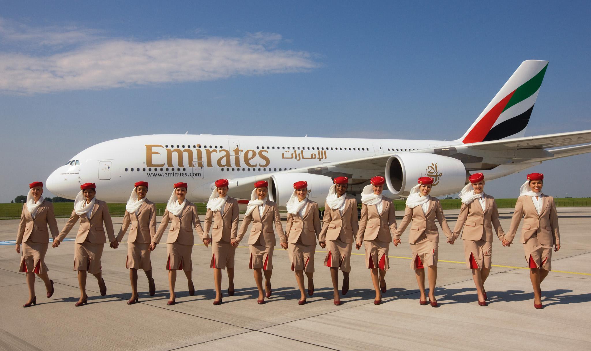 Emirates A380 & cabin crew