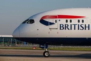 LONDON, UK:British Airways Boeing 787-9 arrives at London Heathrow on 30 September 2015