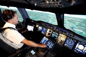 BA pilot training using simulators
