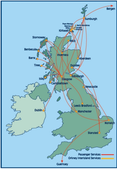 Loganair route network