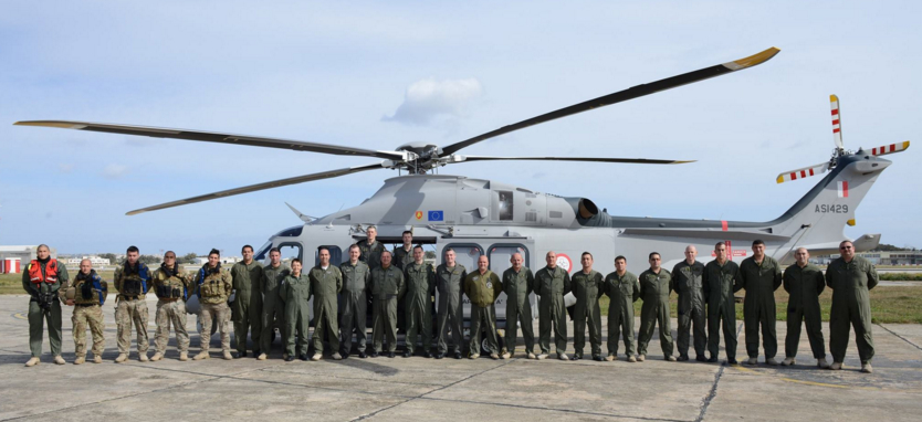 Armed Forces of Malta with Air Corps personnel