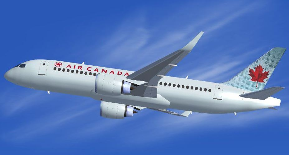 Bombardier CSeries as it will look in Air Canada service