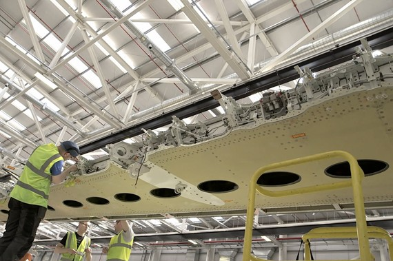 Bombarier Belfast produces the CSeries wing