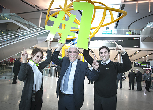 Dublin Airport rated No 1 for passenger service