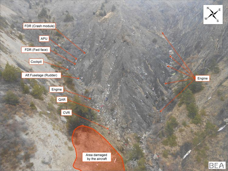 Germanwings flight 4U9525 crash site (BEA)